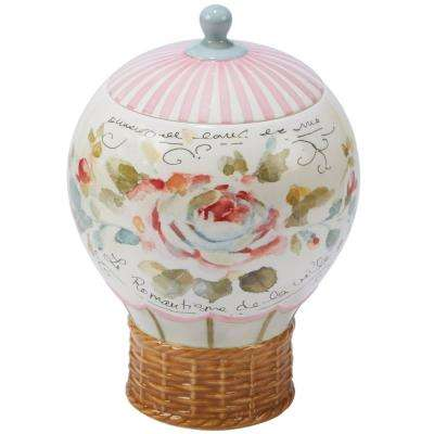 Beautiful Romance Multi-Colored 9.75 in. 3-D Balloon Cookie Jar