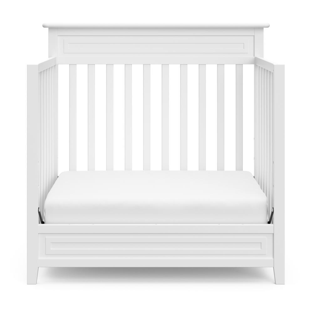 Petal Mini White 5-in-1 Convertible Crib