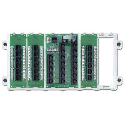 18-Port Structured Media Preconfigured Cabling Panel