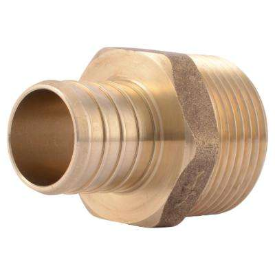 1 in. PEX Barb x MIP Brass Adapter Fitting