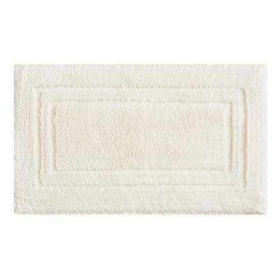 Imperial 20 in. x 34 in. Cotton Bath Mat in Parchment