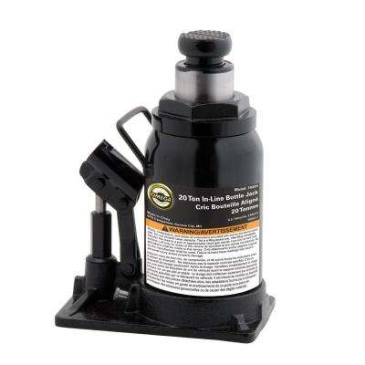 20-Ton Hydraulic In-Line Bottle Jack