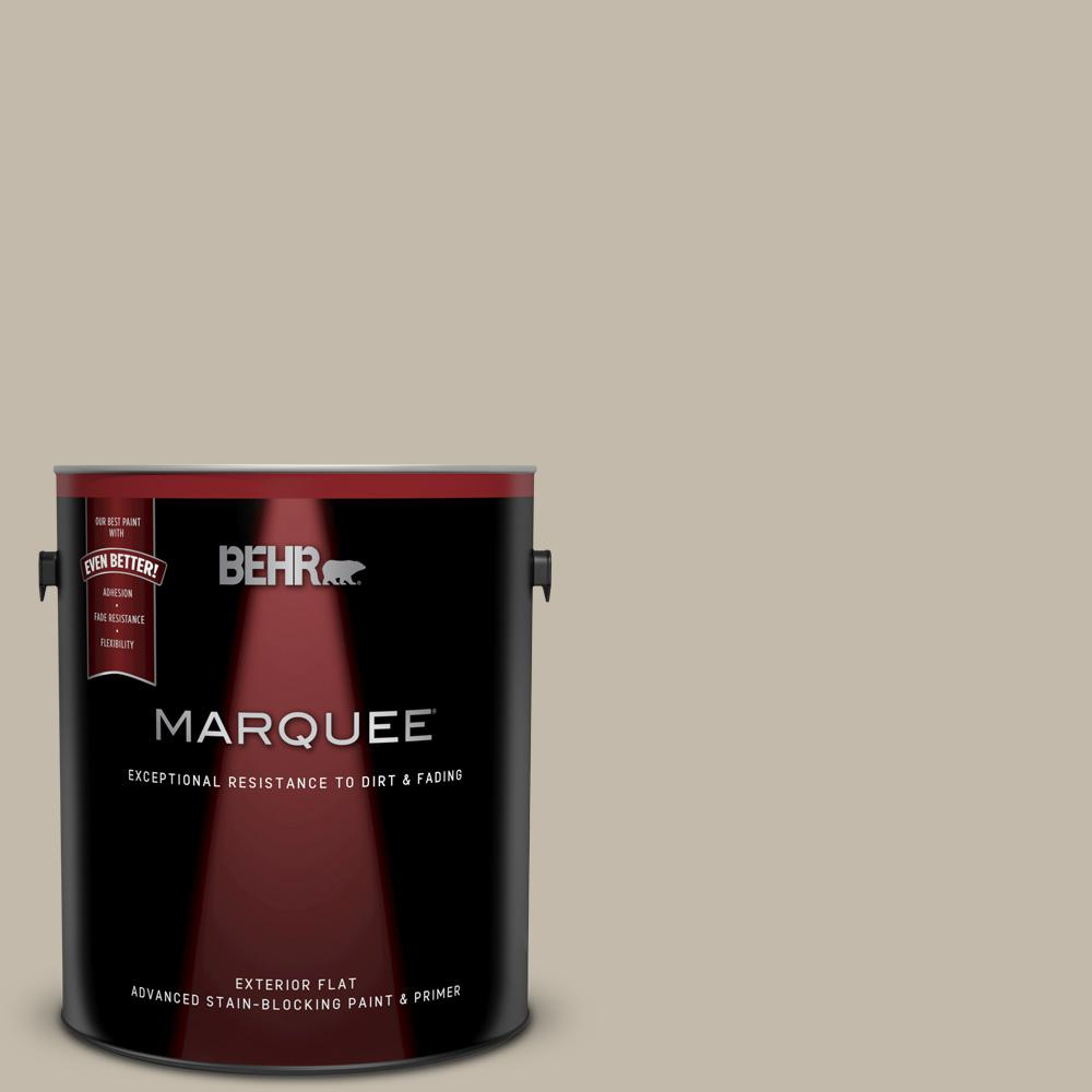 Behr Marquee 1 Gal 730c 3 Castle Path Flat Exterior Paint And Primer