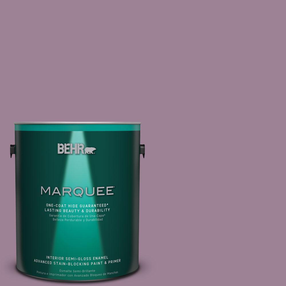 1 gal. #S110-5 Garden Plum One-Coat Hide Semi-Gloss Enamel Interior Paint