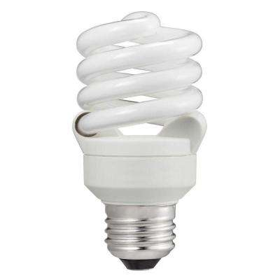 60W Equivalent Daylight (5000K) T2 Spiral CFL Light Bulb (6-Pack)