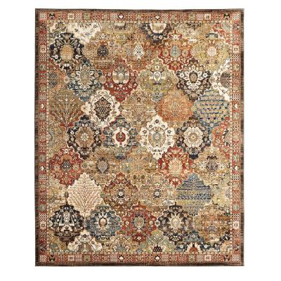 Patchwork Multi 8 ft. x 10 ft. Medallion Area Rug