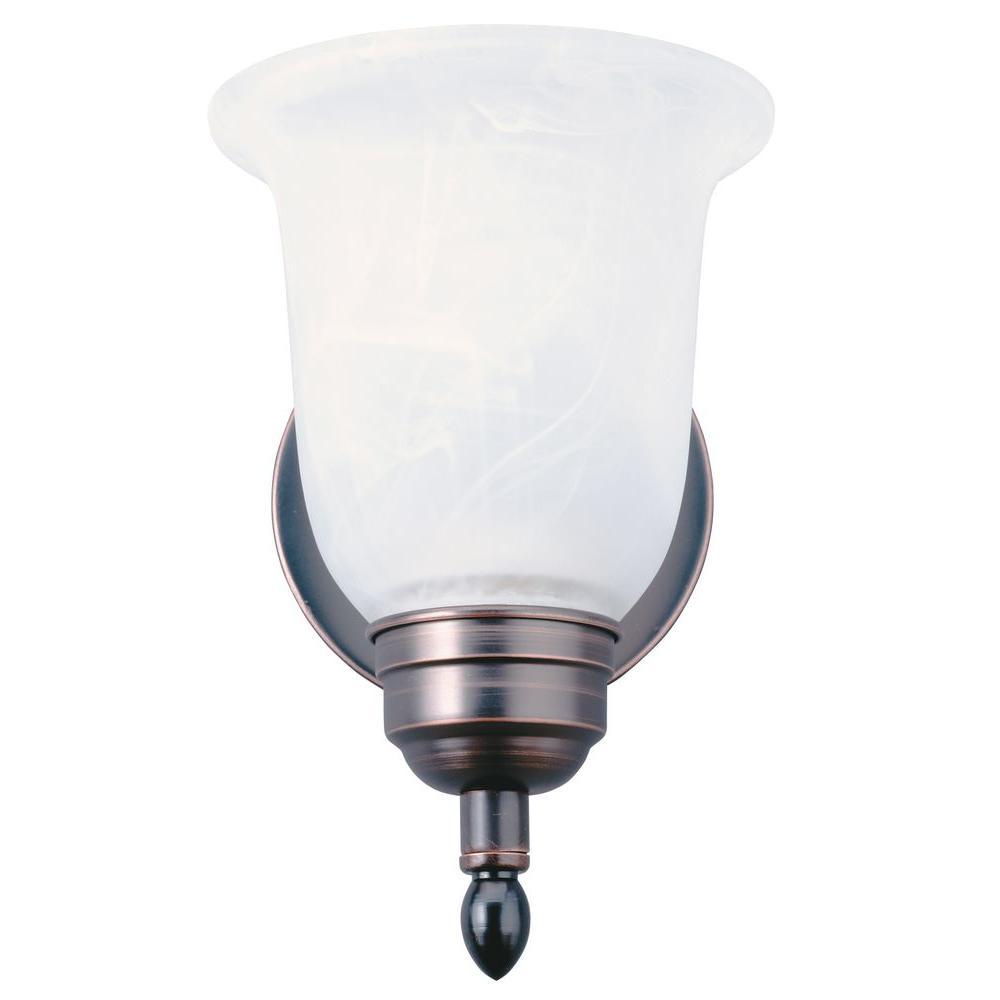 1-Light Black Bronze Fluorescent Sheffield Flush/Semi Flush Mount