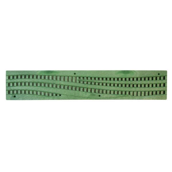 24 in. Plastic Spee-D Channel Drainage Grate with Wave Design in Green