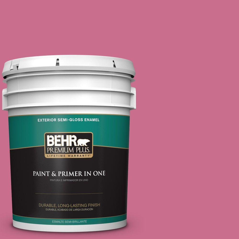 5-gal. #110B-5 Silk Ribbon Semi-Gloss Enamel Exterior Paint