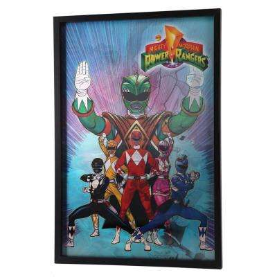 "28 in. x 19 in. ""Power Rangers"" by Hasbro Printed Framed Lenticular Wall Art"