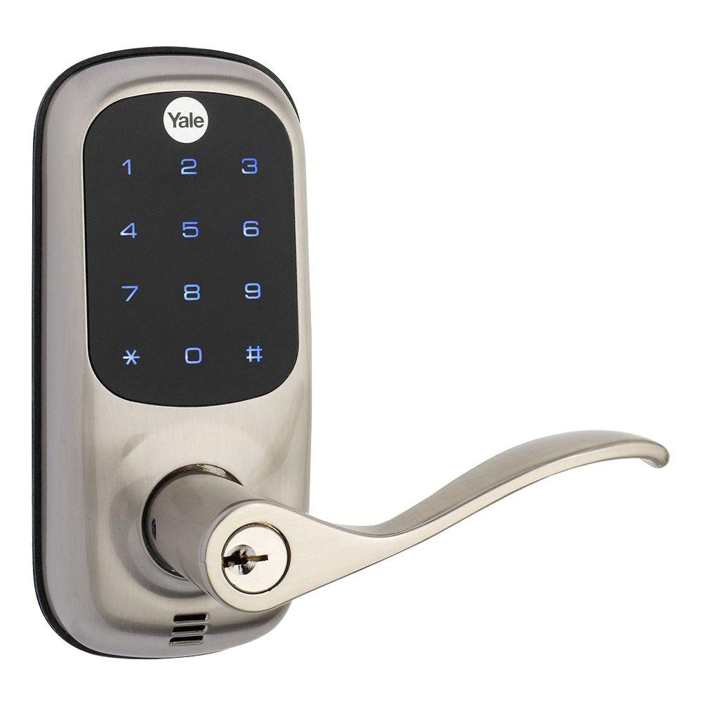 Yale Real Living Touch Screen Satin Nickel Door Lever