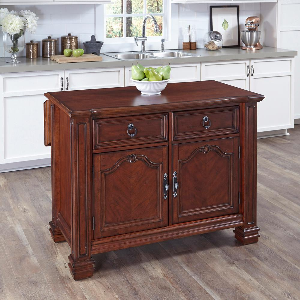 home depot kitchen islands home styles aspen rustic cherry kitchen island with 18113