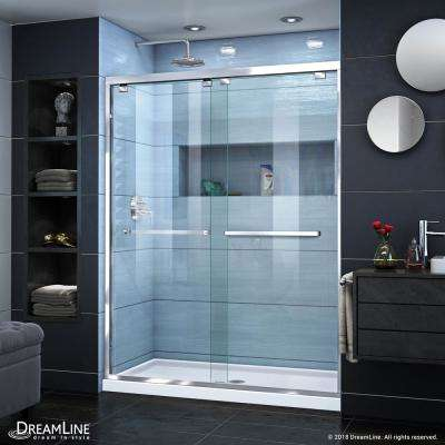 Encore 56 in. to 60 in. x 76 in. Framed Sliding Shower Door in Chrome