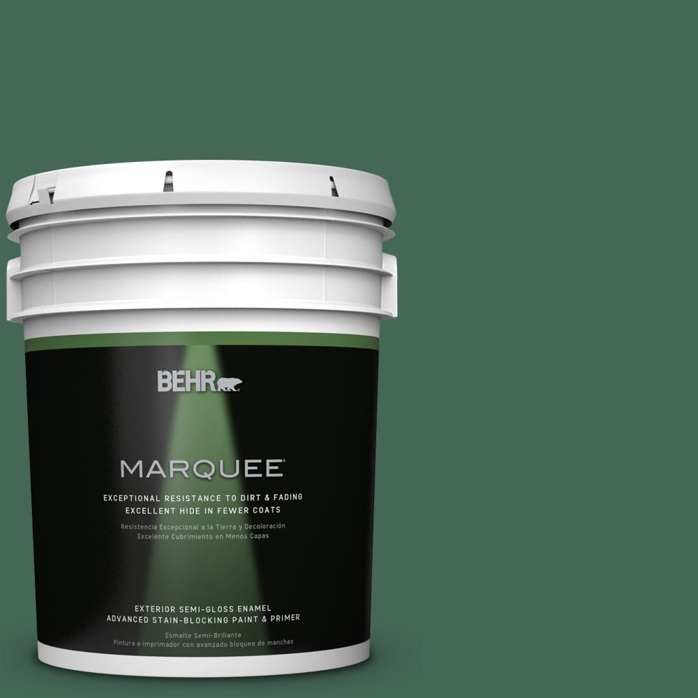 BEHR MARQUEE 5-gal. #M420-7 Billiard Green Semi-Gloss Enamel Exterior Paint