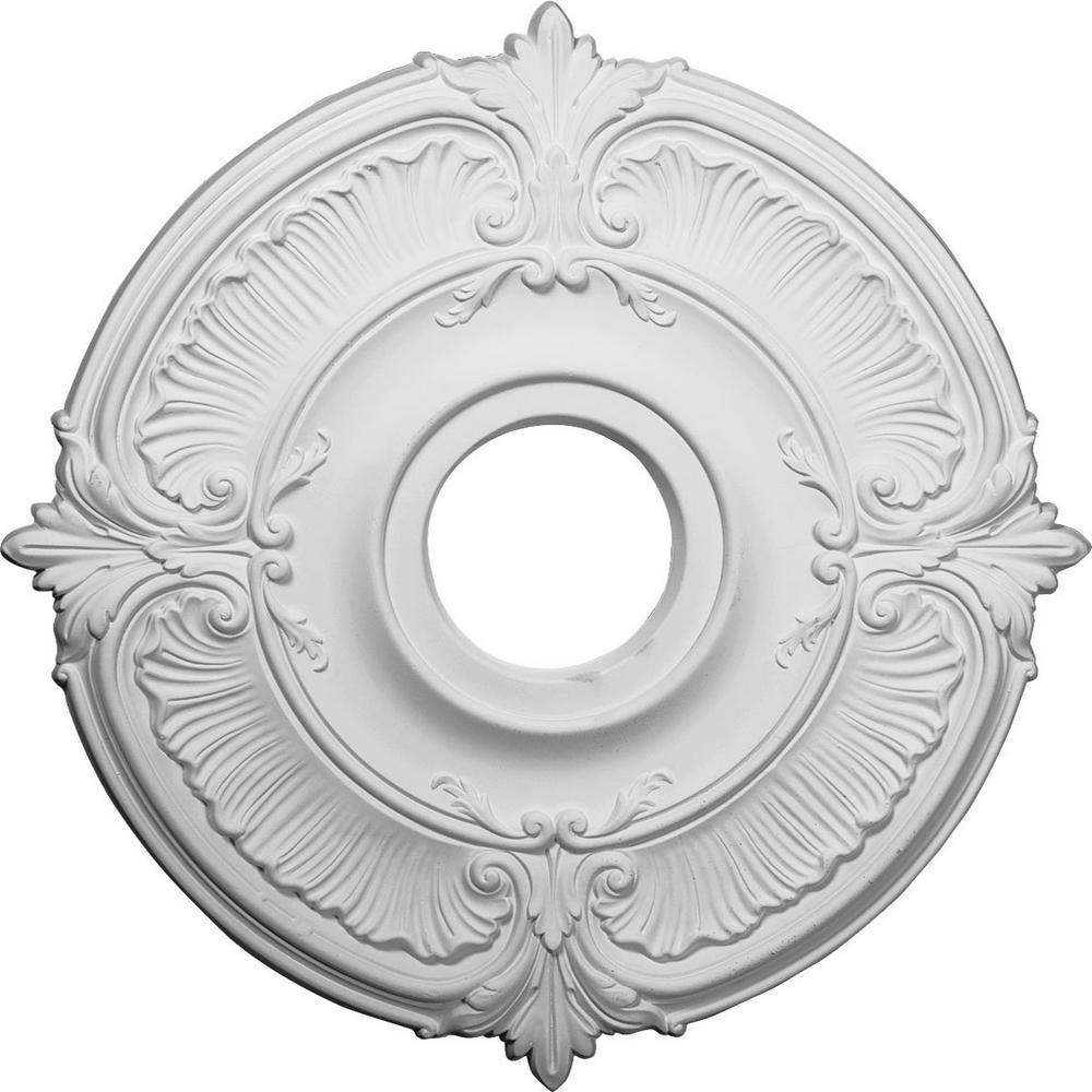 18 in. OD x 4 in. ID x 5/8 in. P (Fits Canopies up to 5 in.) Attica Ceiling Medallion