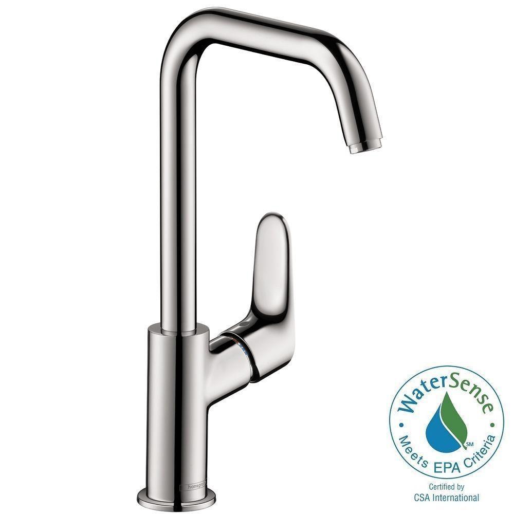 Hansgrohe Focus E 240 Single Hole 1-Handle High-Arc Bathroom Faucet ...