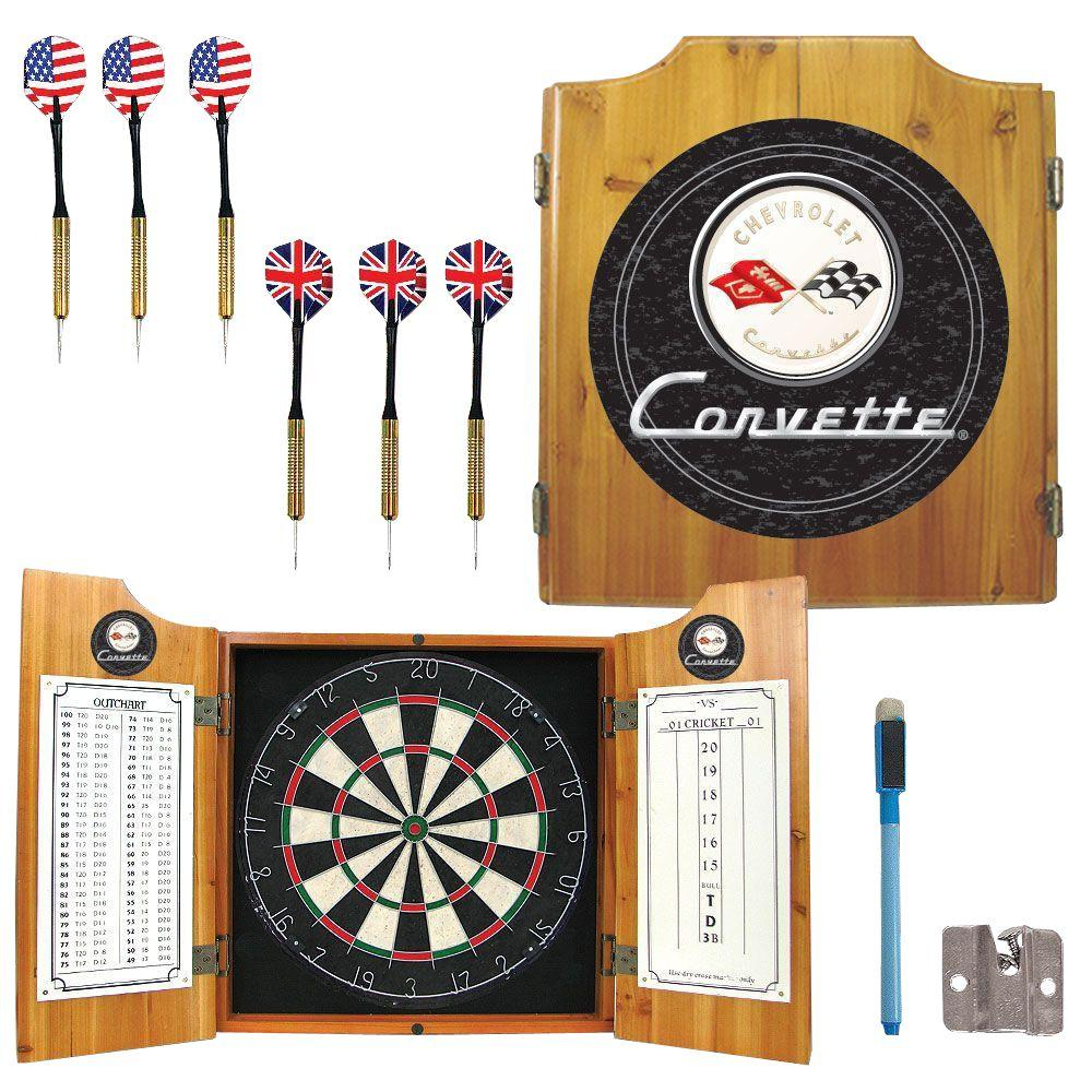 Corvette C1 Wood Finish Dart Cabinet Set