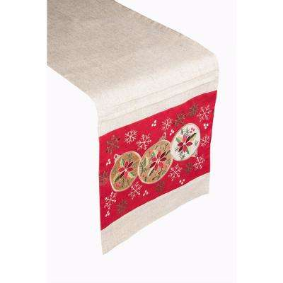 Ornament Trio 100% Polyester Table Runner