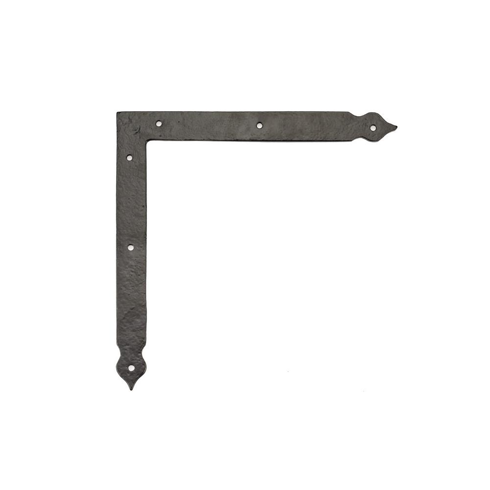 Richelieu Hardware 7-25/32 in. Matte Black Decorative Rustic Corner Bracket