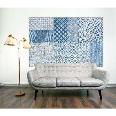 "48 in. x 72 in. ""Maki Tile XCII"" by Kathrine Lovell Printed Framed Canvas Wall Art"