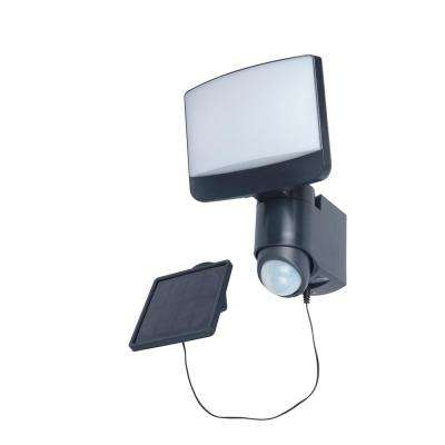 180° Grey Motion Activated Solar Flood Light with Integrated LED