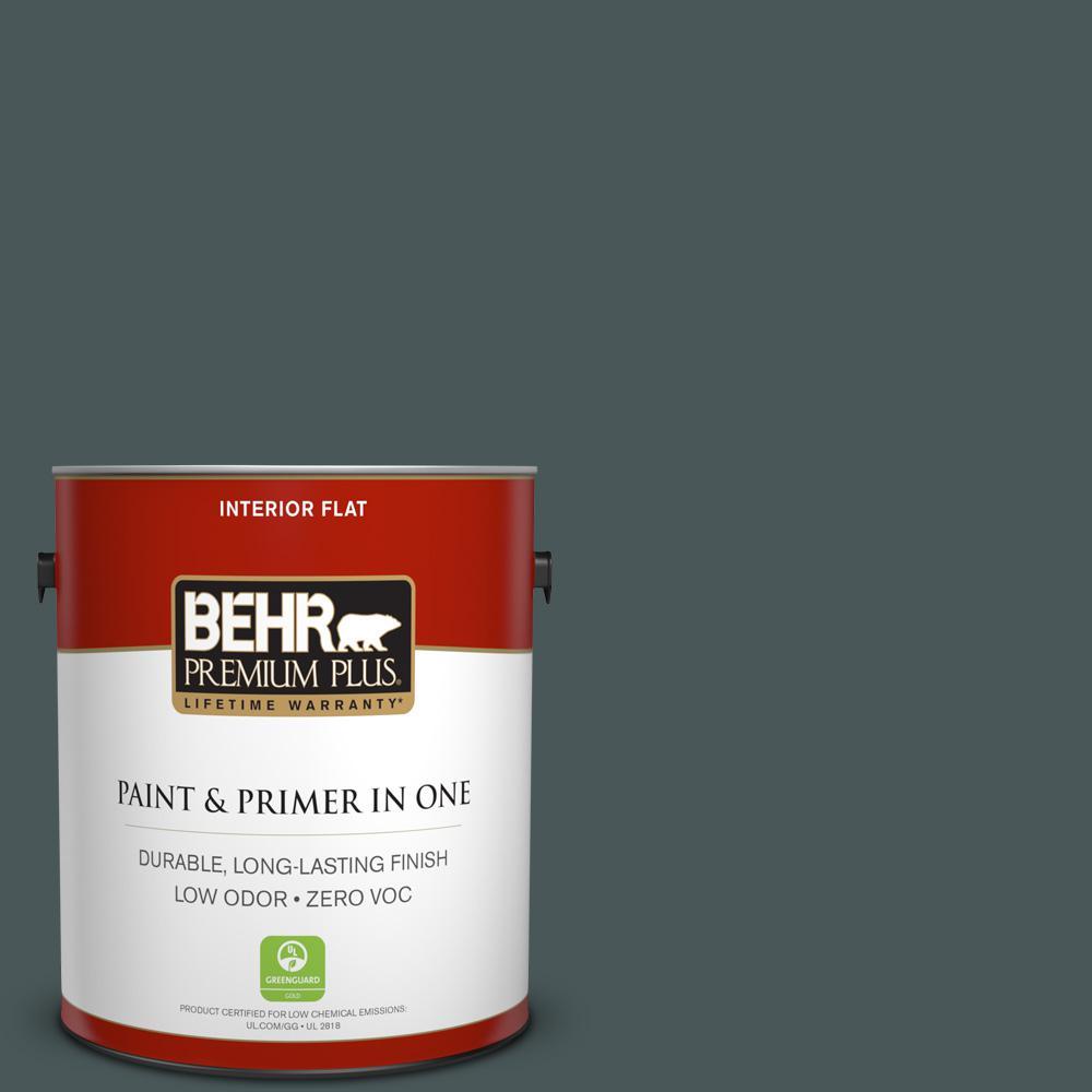 BEHR Premium Plus 1-gal. #N440-7 Midnight in NY Flat Interior Paint