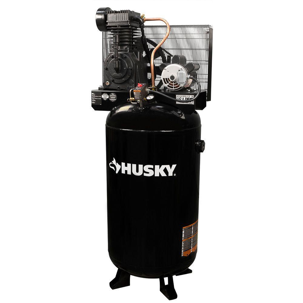 Husky 80 Gal. 2-Stage Stationary Electric Air Compressor by Husky