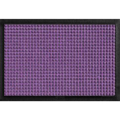 Aqua Shield with Rubber Border Purple 17.5 in. x 26.5 in. Pet Mat