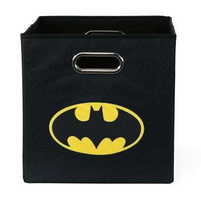 Batman Logo 10.5 in. x 10.5 in. Black Folding Storage Bin