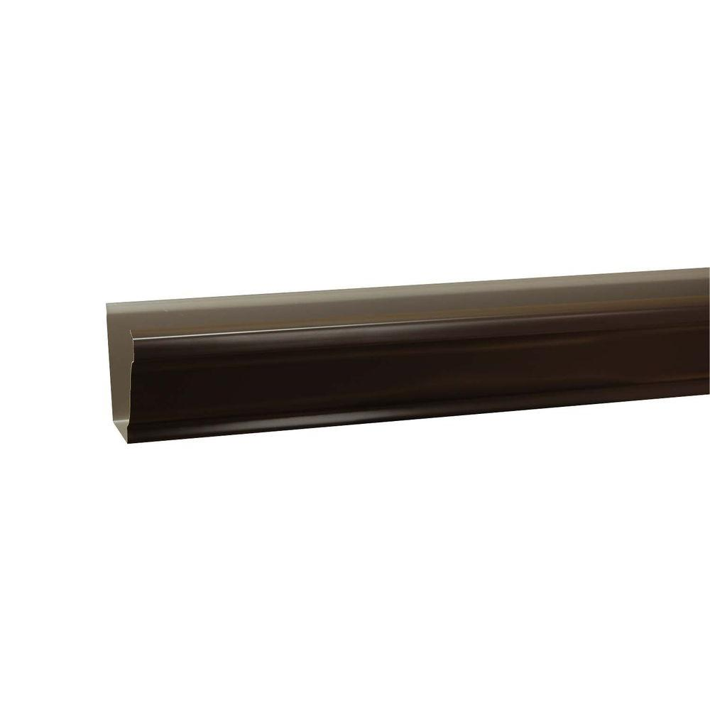 5 in. x 10 ft. K-Style Musket Brown Aluminum Gutter