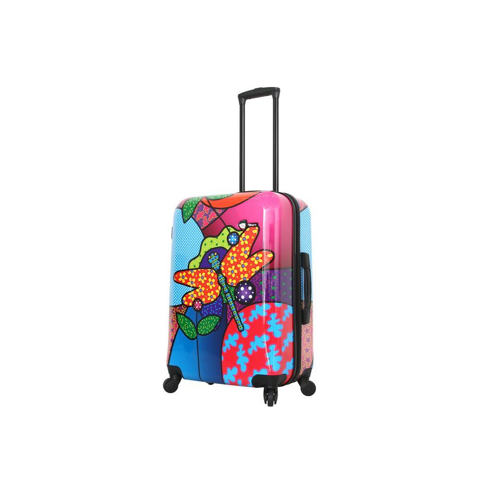 Allegra 24 in. Pop Dragonfly Spinner Suitcase