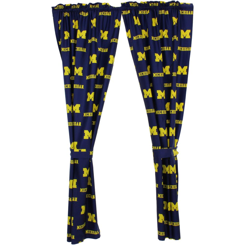 College Covers Michigan Wolverines 63-in Curtain from
