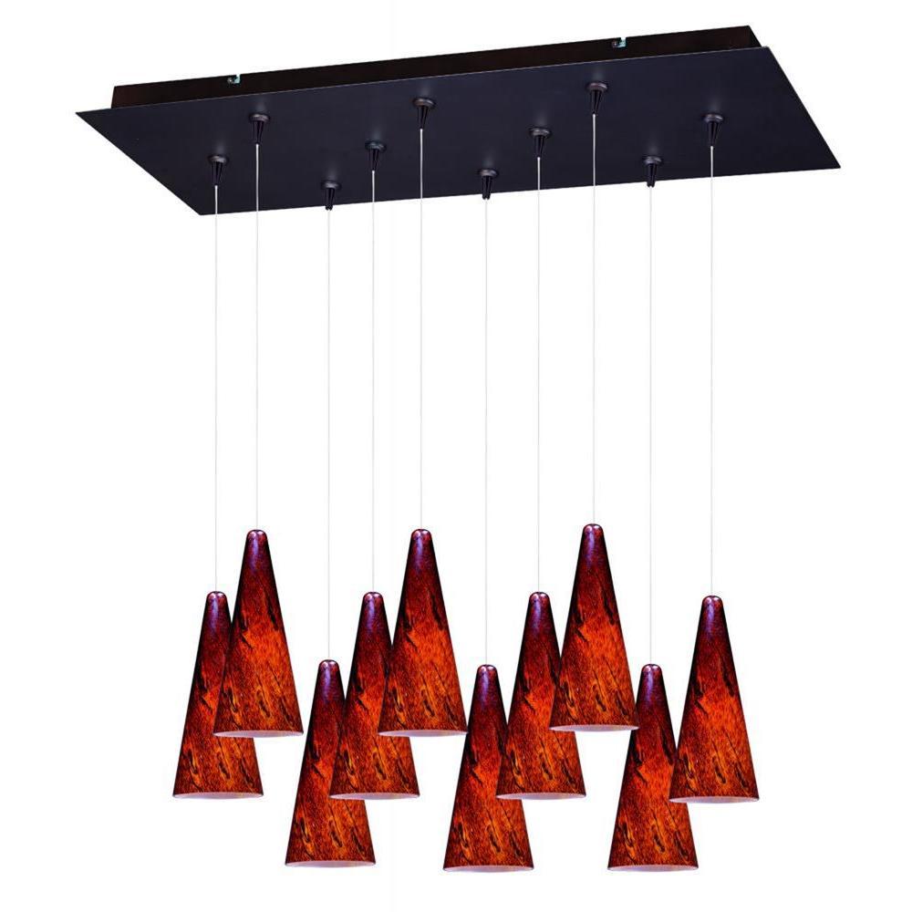ET2 Lava 10-Light RapidJack Pendant and Canopy