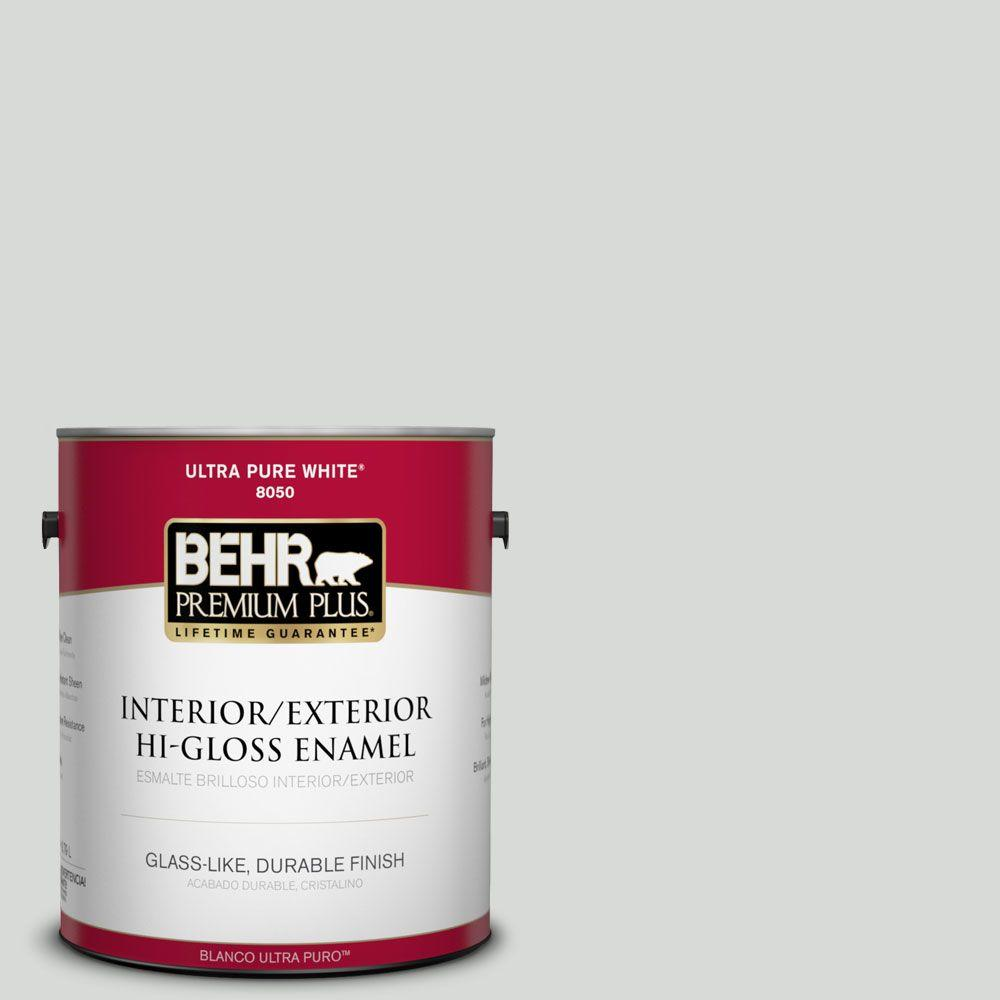 1-gal. #N460-1 Evening White Hi-Gloss Enamel Interior/Exterior Paint