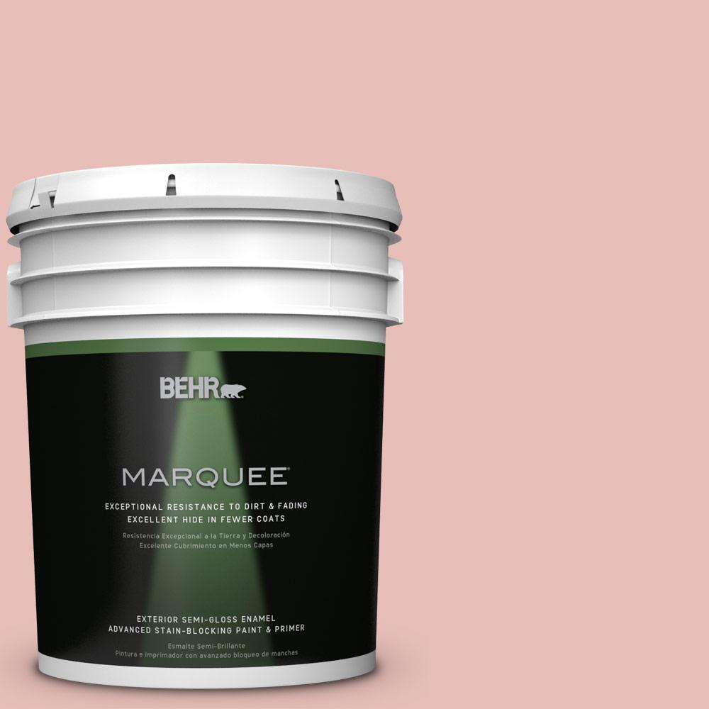 5 gal. #T18-01 Positively Pink Semi-Gloss Enamel Exterior Paint