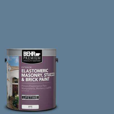 1 gal. #MS-78 Bleached Denim Elastomeric Masonry, Stucco and Brick Paint