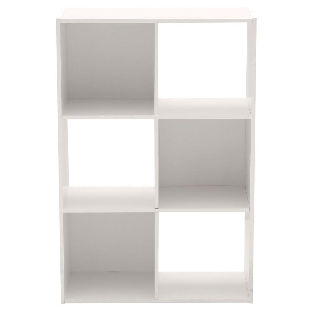 Martha Stewart Living 36 in. x 24 in. White Stackable 6-Cube Organizer