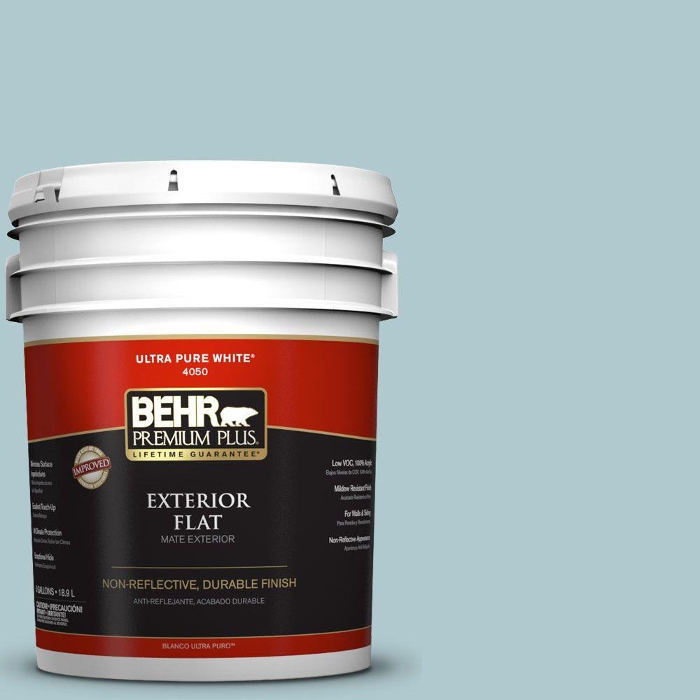 5-gal. #HDC-SM14-8 Floating Blue Flat Exterior Paint