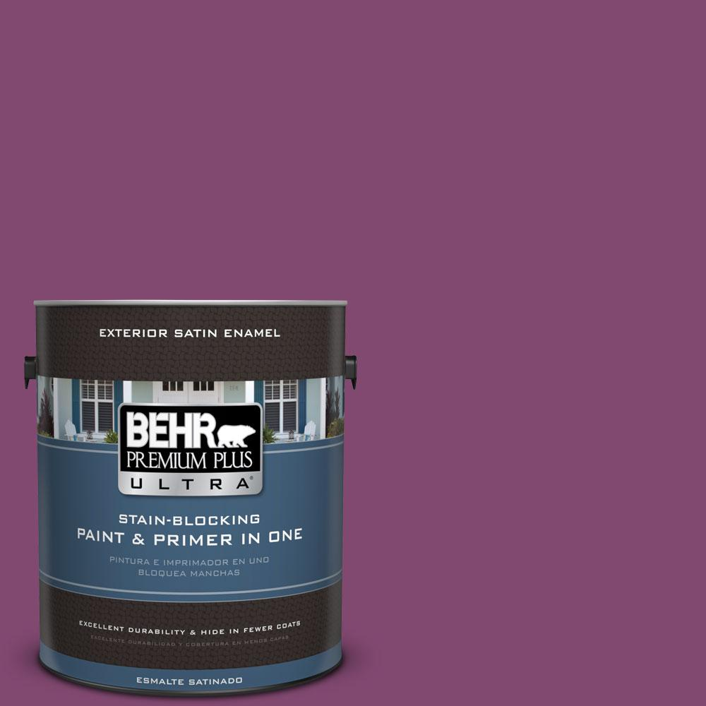 BEHR Premium Plus Ultra 1-gal. #680B-7 Sugar Plum Satin Enamel ...