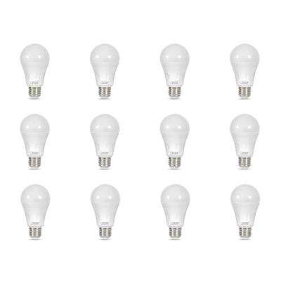 40-Watt Equivalent A19 Non-Dimmable Green Laser and Bright White Dual Mode LED Light Bulb (12-Pack)