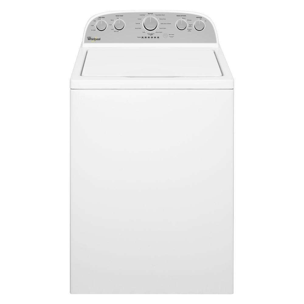 Whirlpool 4 3 Cu Ft High Efficiency White Top Load Washing Machine With Quick