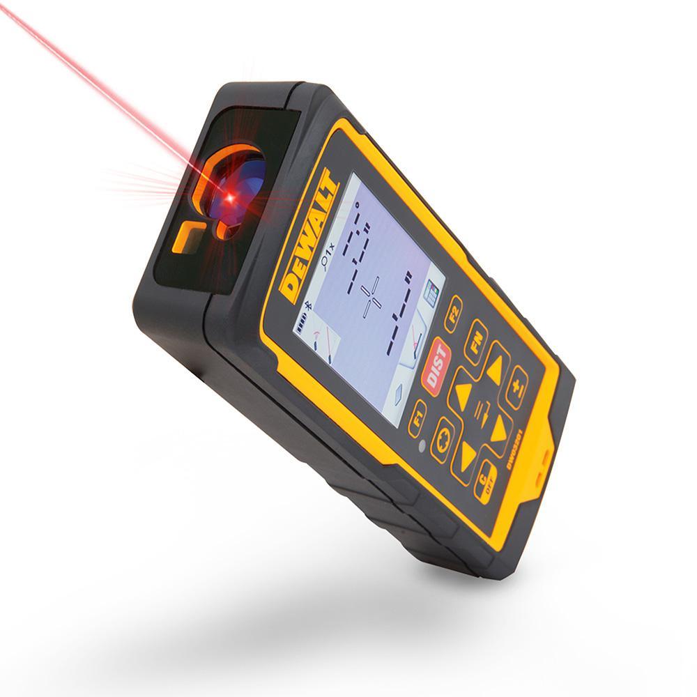 Dewalt 660 Ft Laser Distance Measurer With Color Lcd 4x