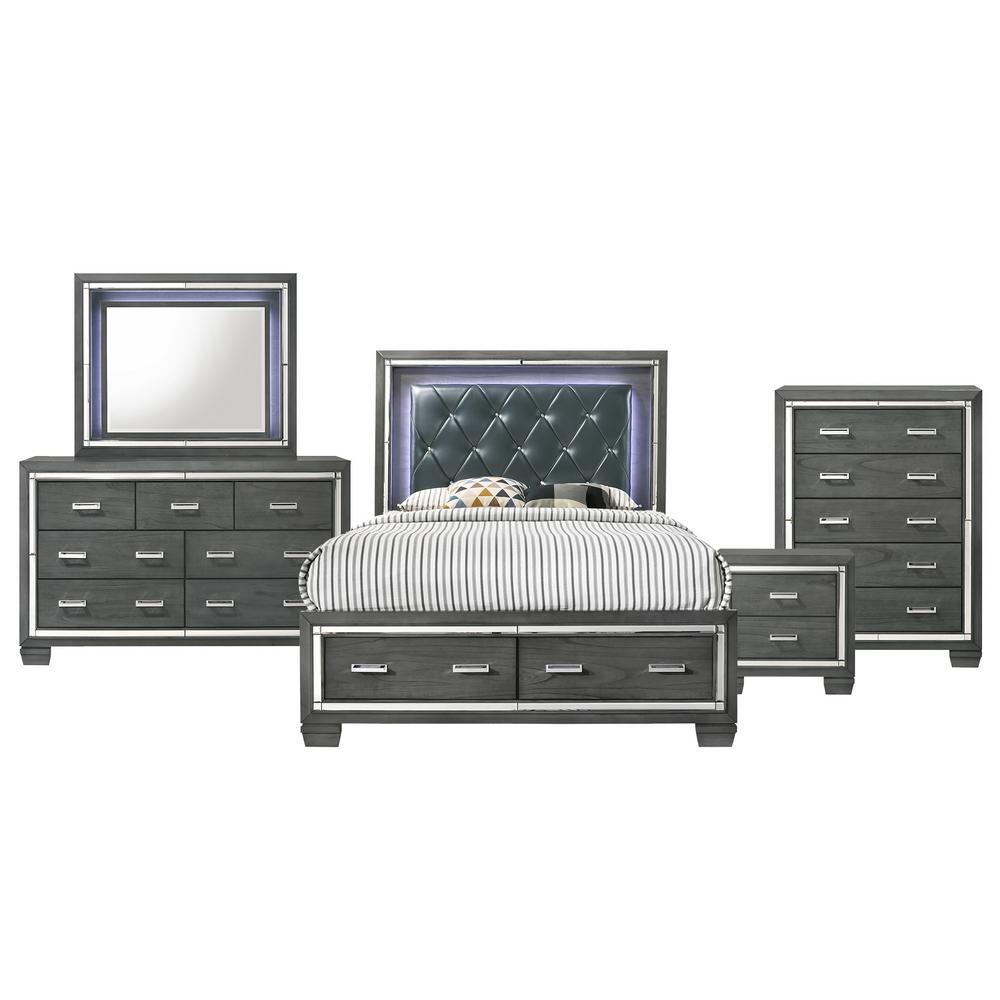 Modern King Storage Bedroom Sets Bedroom Furniture The Home Depot