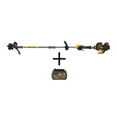 15 in. 60V MAX Lithium Ion Cordless FLEXVOLT Brushless String Grass Trimmer w/ (2) 3.0Ah Batteries and Charger Included