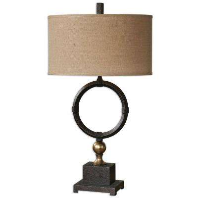 32 in. Black Metal Table Lamp