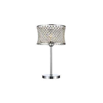 Christie 20 in. Chrome Table Lamp