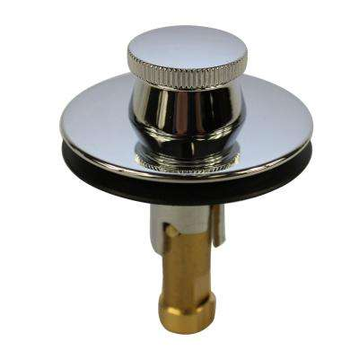Universal Lift and Turn Drain Stopper in Chrome