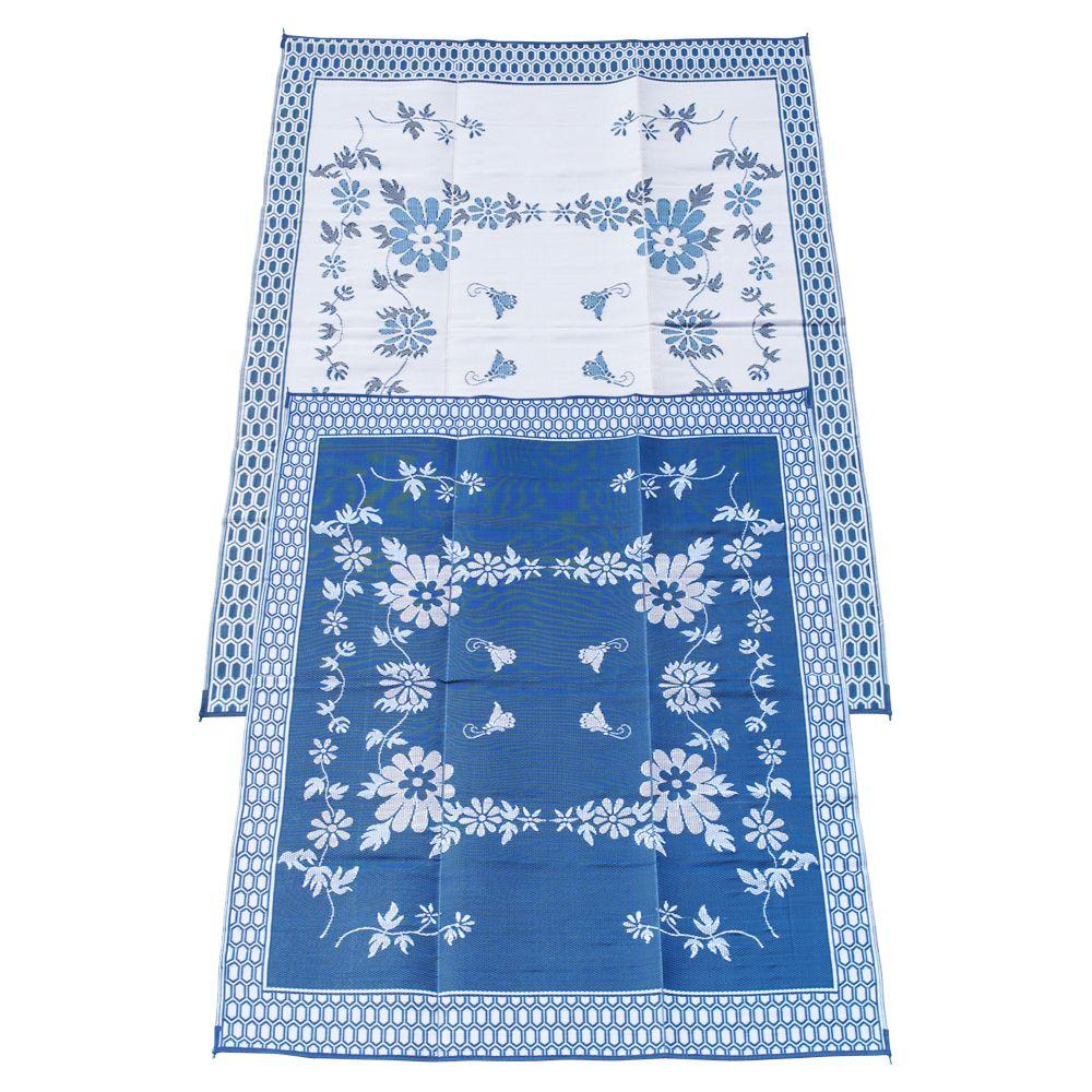 Fireside Patio Mats Melting Glacier Blue 9 Ft X 12 Ft