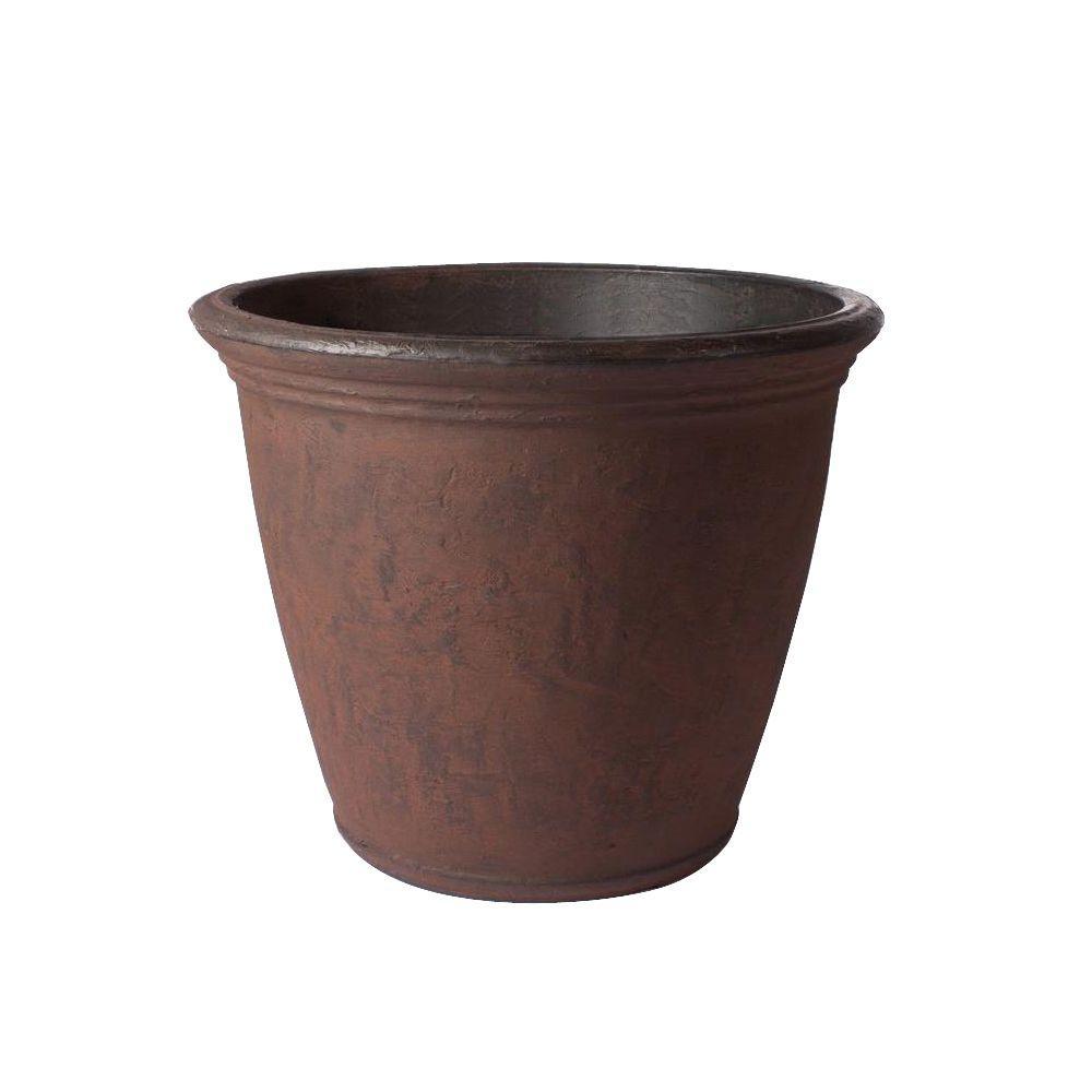Plastic Garden Pot Veradek 24 in x 195 in rust marino plastic planter ma24ru the rust marino plastic planter workwithnaturefo
