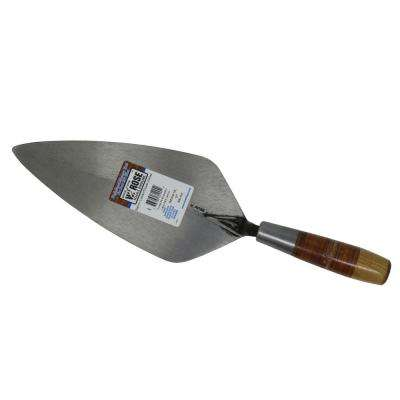 12 in. Limber Narrow London Brick Trowel with Leather Handle